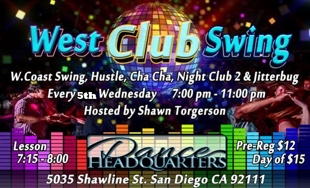 West Club Swing every 5th Wednesday