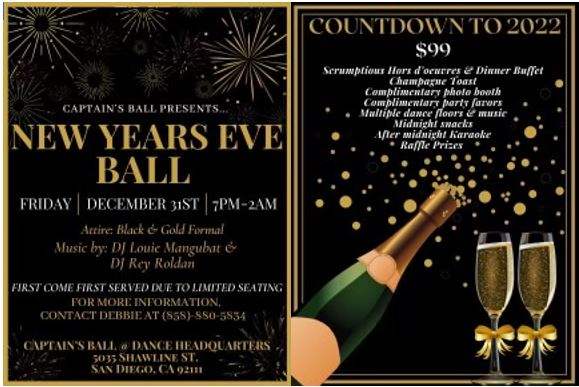 New Years Eve Ball presented by Captain's Ball