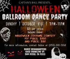 Captain's Ball Halloween Dance Party Costume Contest